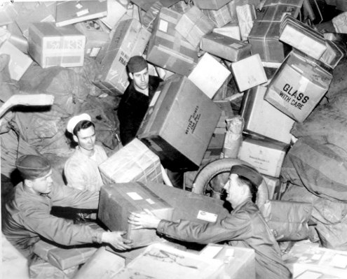 Mailroom of EU Council during summer reccess