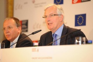 Benoit Battistelli (EPO) and Michael Barnier (EU Commission)