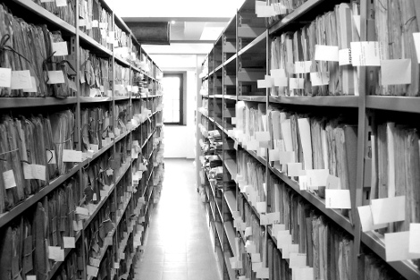 Archives with paper files